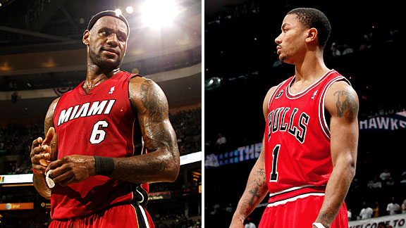 Derrick Rose & LeBron James