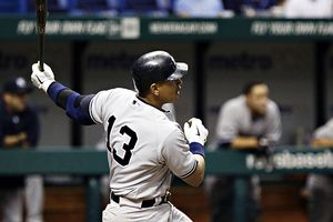 Alex Rodriguez's two home runs helped the Yankees to an early lead in Tampa.