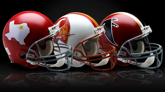 Retro NFL helmets