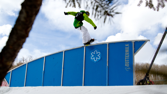 This is so huge for our sport, says Chas Guldemond on the announcement to include snowboard slopestyle in the Olympics.