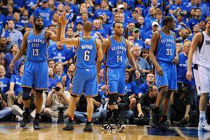 Oklahoma City Thunder bench