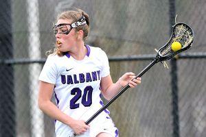 Jodi Battaglia leads Albany's potent attack.
