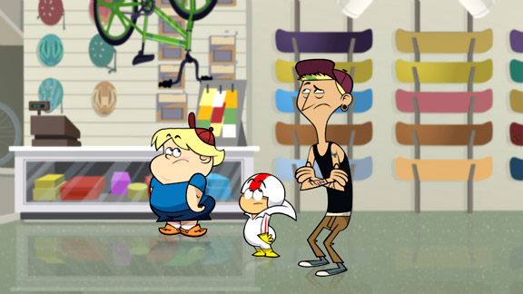 Tony Hawk Cartoon - Kick Buttowski