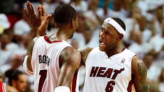LeBron James and Chris Bosh