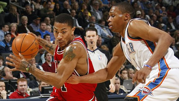 Derrick Rose and Russell Westbrook