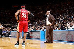Mike Brown and  LeBron James