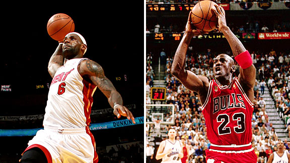 Michael Jordan & LeBron James