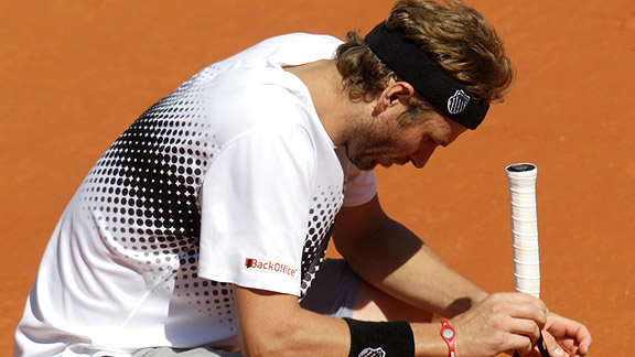 Mardy Fish had the dubious honor of being the last American standing in the 2011 French Open until he, too, was eliminated in the third round.