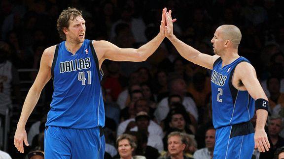 Dirk Nowitzki and  Jason Kidd