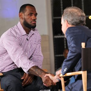 LeBron James and Jim Gray