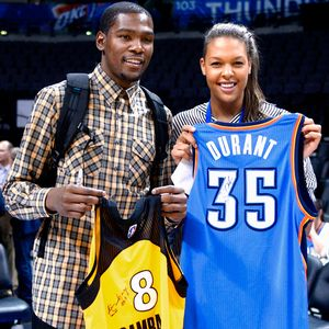 Liz Cambage and Kevin Durant