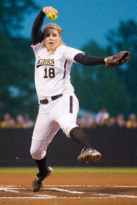 ncaa softball tournament pitching strength at forefront