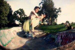 Rick McCrank frontside airs while in New Zealand on a bicycle and skate trip.