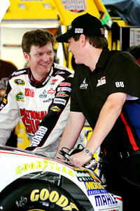 Dale Earnhardt Jr. and Steve Letarte