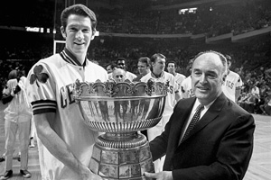 John Havlicek and Red Auerbach