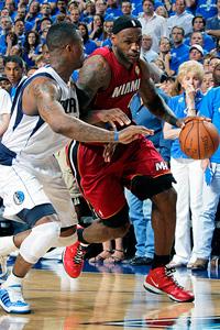 LeBron James and DeShawn Stevenson