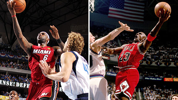 Jordan and LeBron