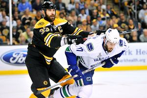 Zdeno Chara and Ryan Kesler