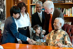 Clinton and Mandela