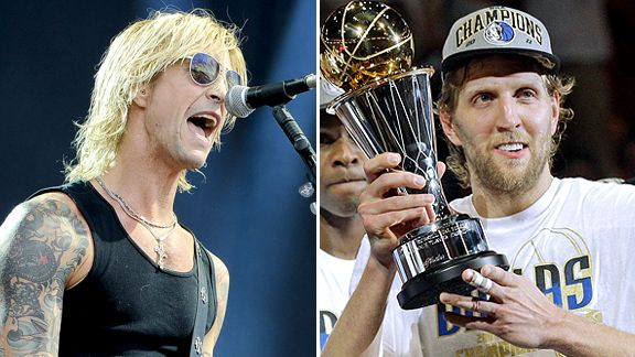 Duff McKagan and Dirk Nowitzki
