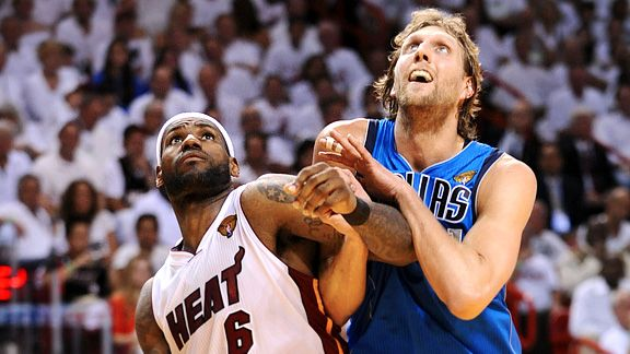 LeBron James and Dirk Nowitzki