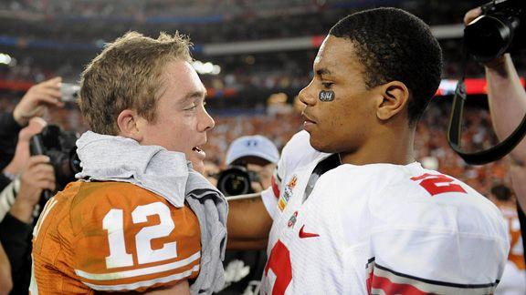 Colt McCoy and Terrelle Pryor