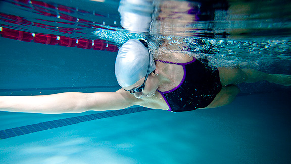 Olympic medalist Natalie Coughlin worked with H2O Audio engineers to develop the Interval, the only waterproof iPod case designed for swimmers.