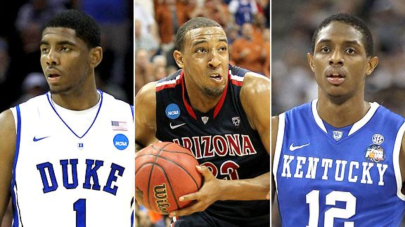 Kyrie Irving, Derrik Williams, Brandon Knight