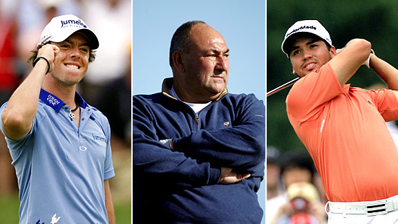 Rory McIlroy, Chubby Chandler & Jason Day