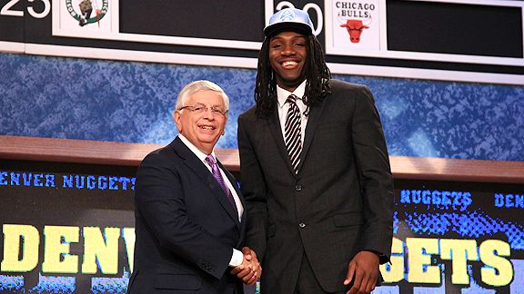 Denver drafted Kenneth Faried with the No. 22 pick in the 2011 NBA draft.