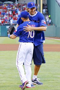Dirk Nowitzki and Michael Young