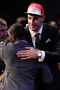 The NBA draft included a high number of foreign-born players, which
