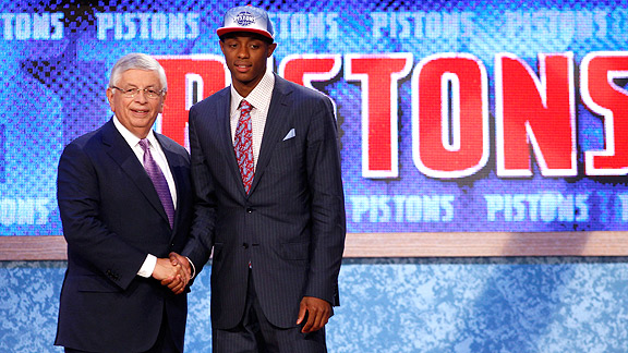 David Stern and Brandon Knight