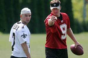 Kenny Chesney and Drew Brees