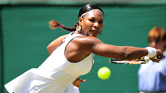 Serena Williams played just one tournament before Wimbledon, where she was knocked out in the fourth round.