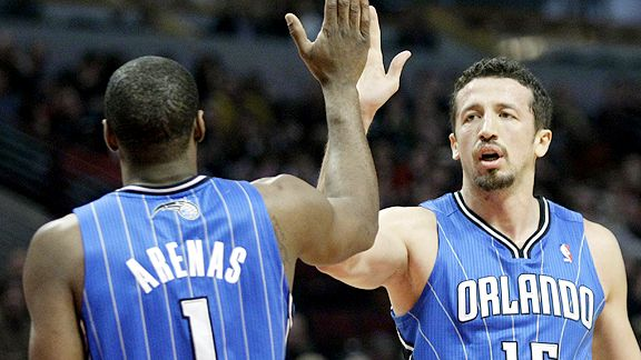 Gilbert Arenas and Hedo Turkoglu