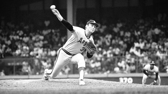Nolan Ryan with the California Angels during his no-hitter in 1973.