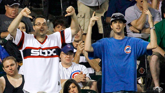 Chicago White Sox and Cubs fans