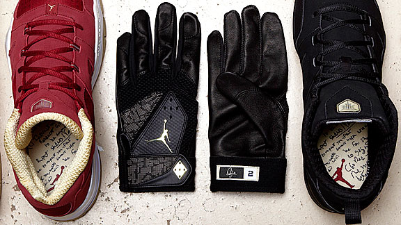 Jordan Brand The new Jeter Cut line features insoles with a replica of a contract Derek Jeter signed with his dad