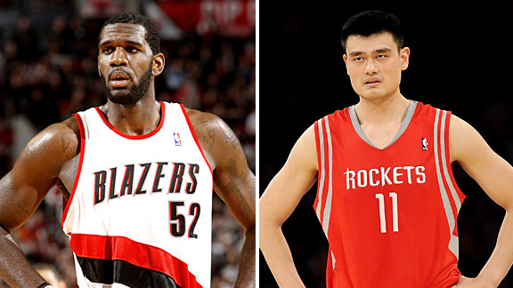 Greg Oden & Yao Ming