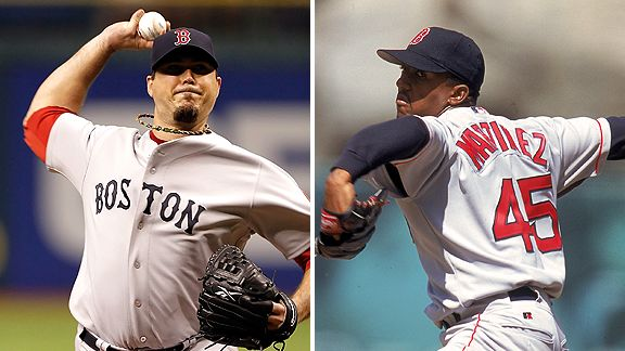 Josh Beckett and Pedro Martinez