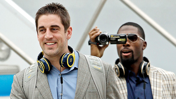 Aaron Rodgers and Greg Jennings