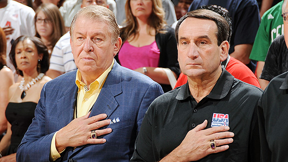 Jerry Colangelo and Mike Krzyzewski
