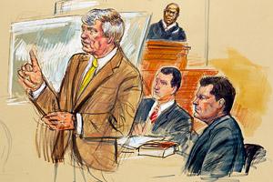 Clemens in Court (Artist Rendering)