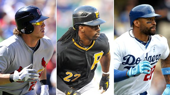 Colby Rasmus, Andrew McCutchen and Matt Kemp