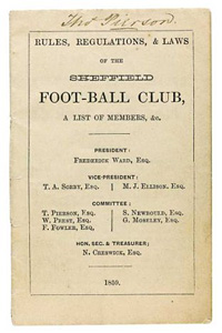 Sheffield Football Club's rule book