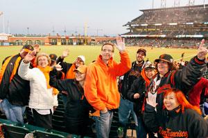 Fans of San Francisco Giants