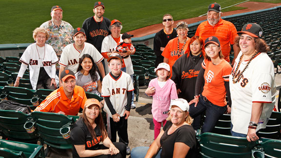 Fans of San Francisco Giants