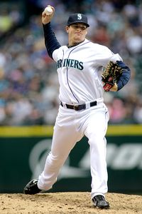 Seattle Mariners starting pitcher Blake Beavan