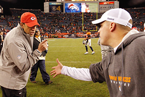 Photo by Justin Edmonds/Getty Images Chiefs coach Todd Haley, left